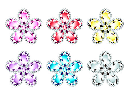 Flower pattern jewel