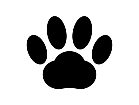 Paws icon 2 black