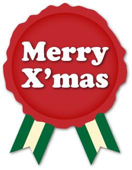 Christmas seals and ribbons