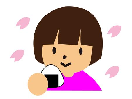 櫻花觀賞(女孩)