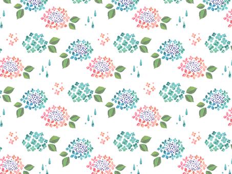 紫陽花パターン