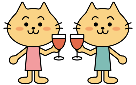 Couple of cats to toast