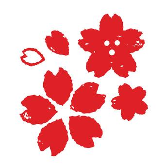 벚꽃 스탬프 빨간색 03