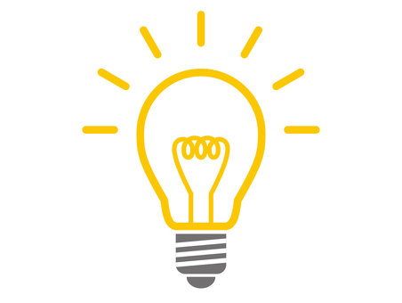 Light bulb color icon