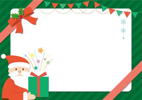 Santa's Christmas frame