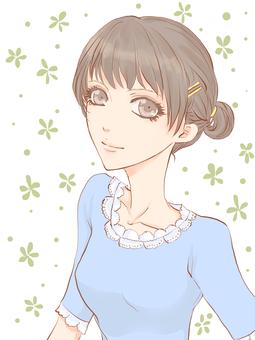 Female - Hairstyle Dadogo - Background