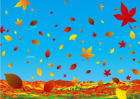 Takahara Dead leaf autumn leaves
