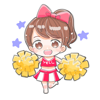 Moe type cheerleader