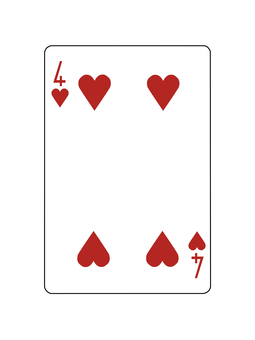Playing Card Heart 4