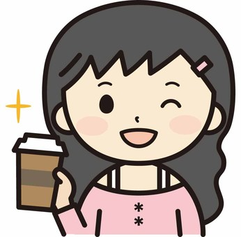 Woman with takeaway coffee