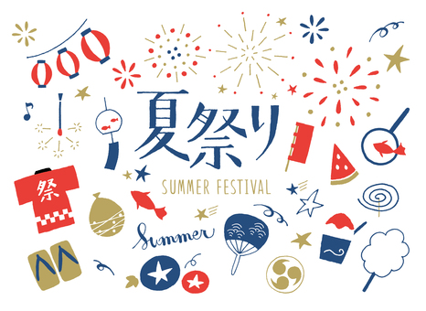 Summer festival hand-painted