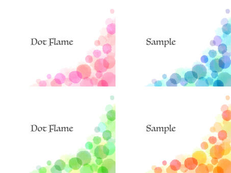 Water color dot frame set