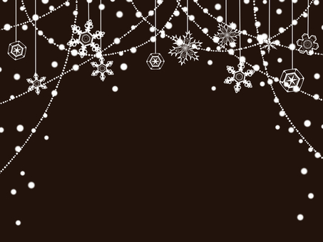 Snowflake Garland Frame / Black