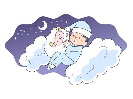 Good sleep image illustration (male)