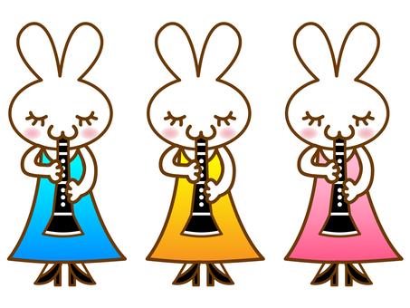 Clarinet and rabbit