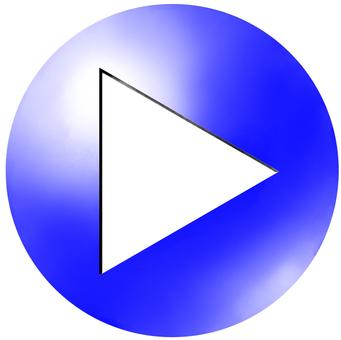 円形アイコンtype2 三角矢印 青
