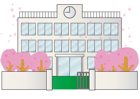 Building 03_18 (school, spring, cherry blossoms)