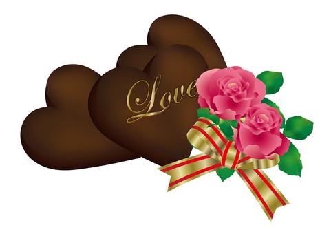 Heart Chocolate & Rose 18