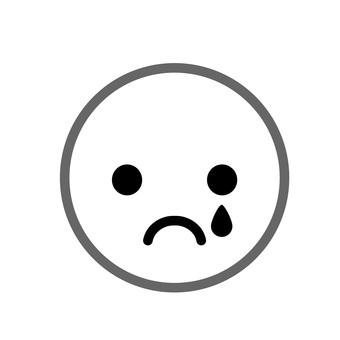 얼굴 마크 슬픔 2 이모티콘