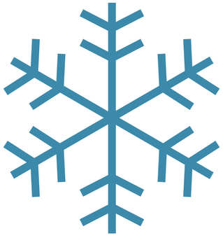 Blue snow crystal