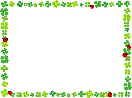 Clover and ladybug card