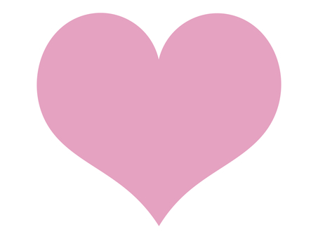 Heart icon silhouette pink