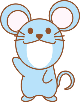 Mouse (for boy) Face fit New Year's card