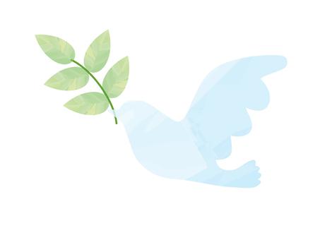 Symbol of Peace pigeons _ watercolor breeze _ light blue