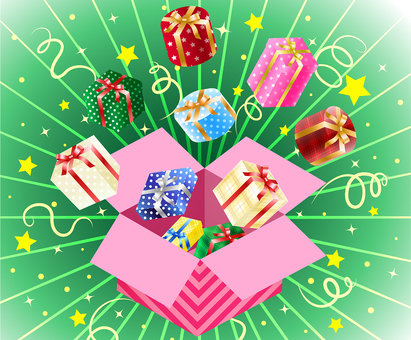 ai gift box pops out of the box background wallpaper