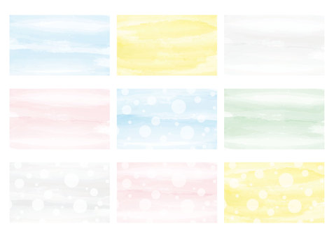 Business card template casual watercolor background
