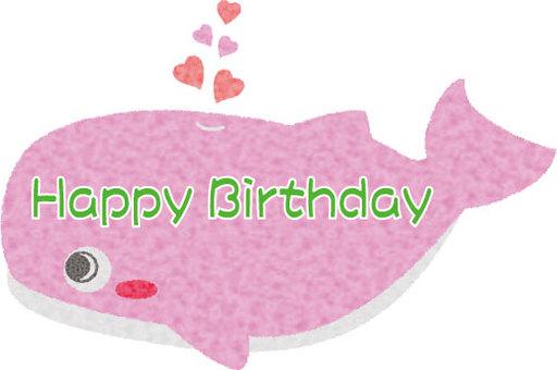 Whale birthday card 02