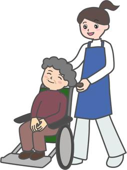 Wheelchair granny