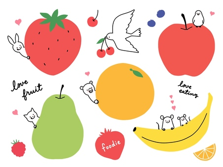 Animals and fruits