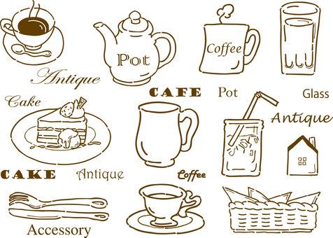 Cafe Goods Hand-drawn Retro