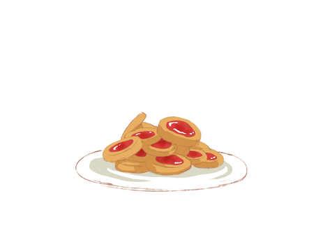 イチゴジャムクッキー