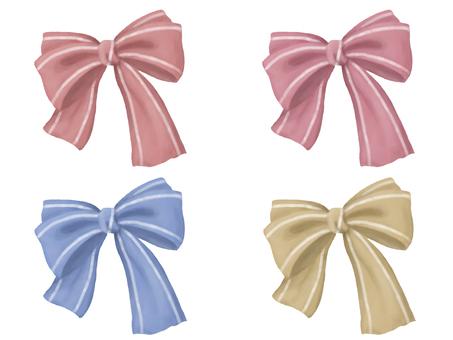 Hand-painted ribbon set