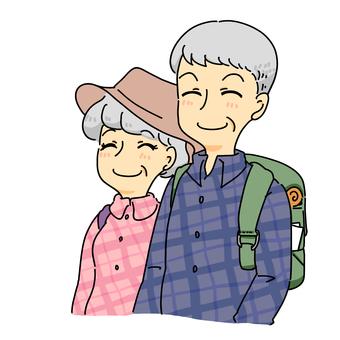 老夫婦的登山日期