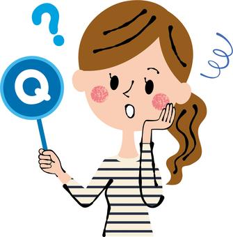 질문 질문 여성 상체 개인 서비