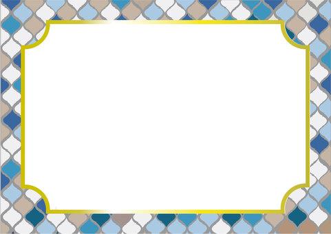Moroccan tile frame (blue)