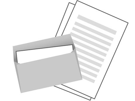 60821. 서류 봉투 회색 4