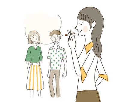 人物/女性/喫煙