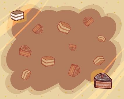 Cake card (choco)
