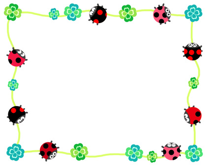 Ladybug and clover spring frame