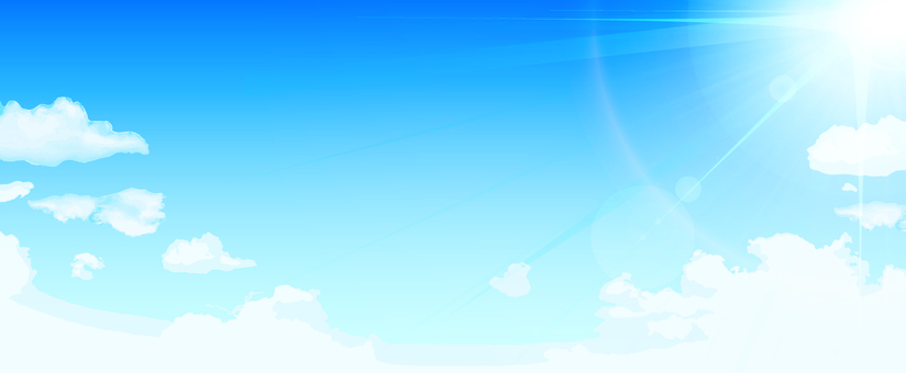 Blue sky and sun panorama