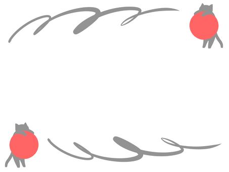 【Frame】 Gray cat