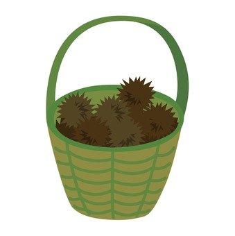 Chestnut and basket