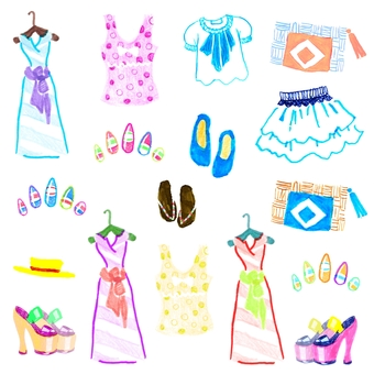 Summer clothing accessories set