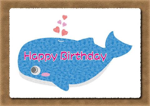 Whale birthday card 04