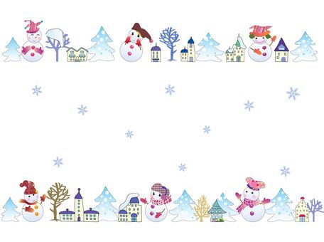 Snowman _ cityscape 01