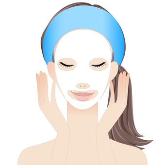 Woman wearing face pack